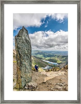 The Snowdon Obelisk Framed Print by Adrian Evans