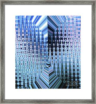 The Snowflake Factory		 Framed Print by Ann Johndro-Collins