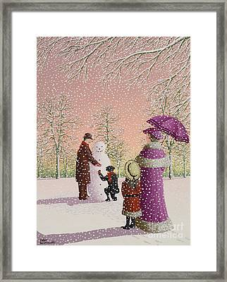 The Snowman Framed Print by Peter Szumowski