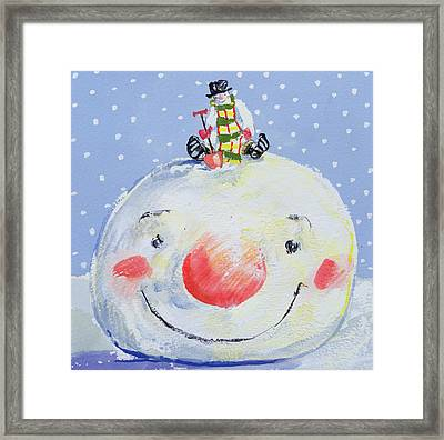 The Snowman's Head Framed Print