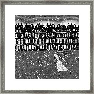 The Snowstorm  Framed Print by Andrew Hitchen