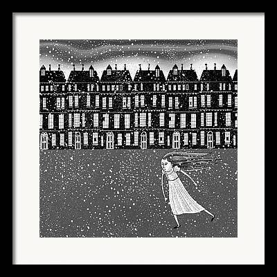 Wintry Drawings Framed Prints