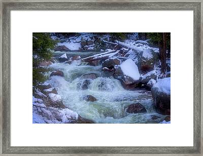 The Snowy Merced River Framed Print by Garry Gay