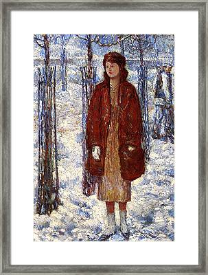 The Snowy Winter Of 1918 Framed Print