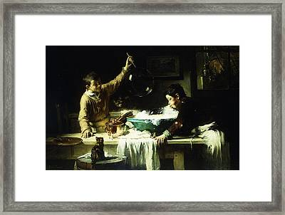 The Soap Bubbles Framed Print