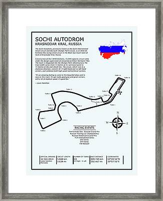 The Sochi Autodrom Framed Print