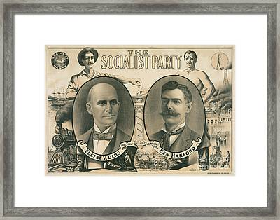 The Socialist Party Presidential Ticket Of 1904 Framed Print
