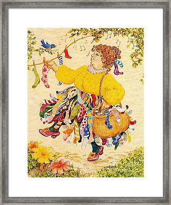 The Sock Lady Framed Print
