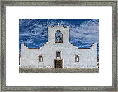 The Socorro Mission Of El Paso Framed Print