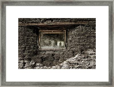 Framed Print featuring the photograph The Sod House by Brad Allen Fine Art