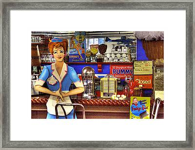 The Soda Fountain Framed Print by David Patterson