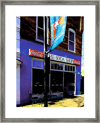 The Soda Shop Framed Print by Kenneth Krolikowski