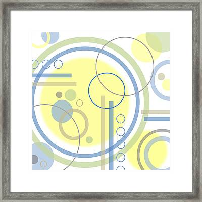 The Softness Of Circles Framed Print