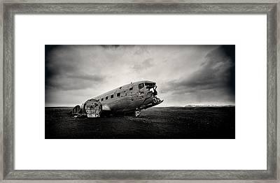 The Solheimsandur Plane Wreck Framed Print