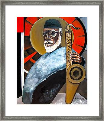 The Son Framed Print by Martel Chapman