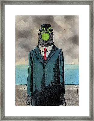 The Son Of Manatee Framed Print by Bizarre Bunny