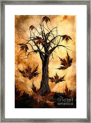 The Song Of Autumn Framed Print