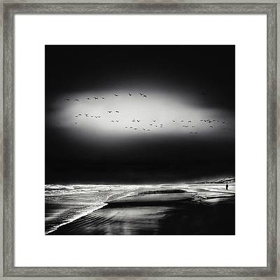 The Song Of The Wet Sands Framed Print by Piet Flour