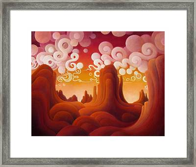 Framed Print featuring the painting The Soul Of The Heart by Richard Dennis