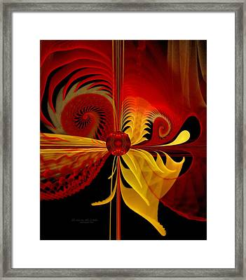 The Soul Sees What Is Within Framed Print by Gayle Odsather