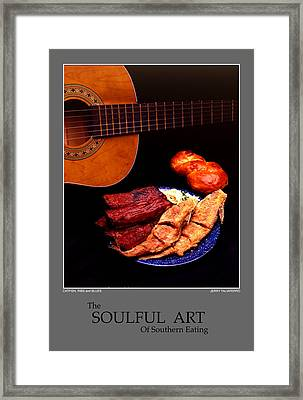 The Soulful Art Of Southern Eating-catfish And Ribs Framed Print