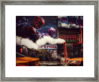 The Sound And The Fury - New York New York Framed Print by Miriam Danar