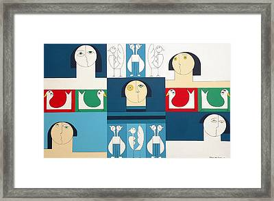 The Sound Of Birds Framed Print by Hildegarde Handsaeme