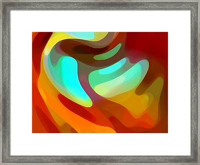 The Sound Of Color Framed Print by Amy Vangsgard