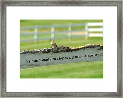 The Sound Of Music Quote Framed Print by JAMART Photography