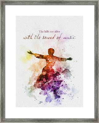 The Sound Of Music Framed Print by Rebecca Jenkins
