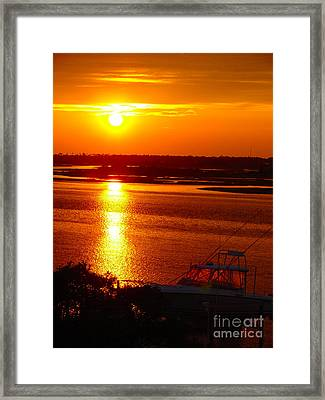 The Sound Of Sunset Framed Print