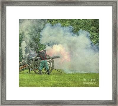 The Sound Of The Cannon Framed Print