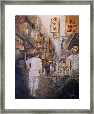 The Soup Seller Framed Print by Victoria Heryet