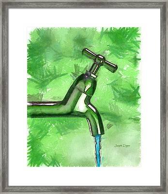 The Source - Da Framed Print by Leonardo Digenio