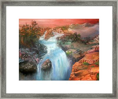 The Source Framed Print by Sherry Shipley