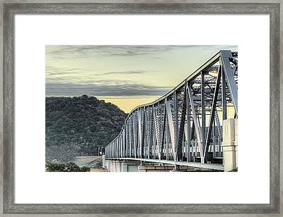 The South Llano River Bridge Framed Print by JC Findley