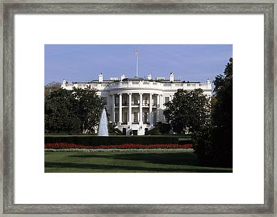 The South Side Of The White House Framed Print by Taylor S. Kennedy