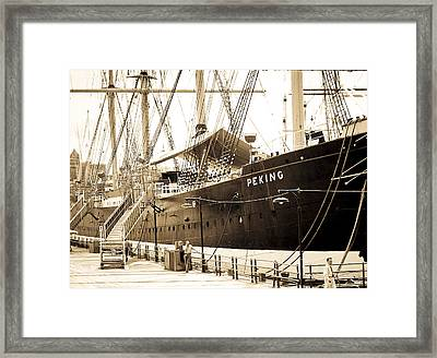 The South Street Seaport Framed Print