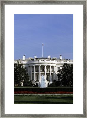 The South View Of The White House Framed Print by Taylor S. Kennedy