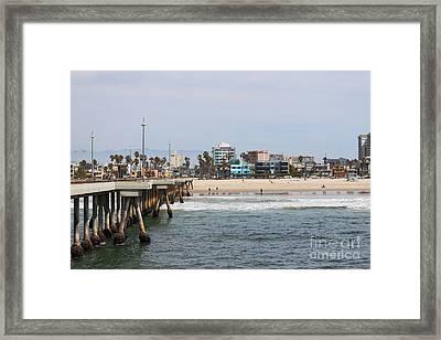 The South View Venice Beach Pier Framed Print
