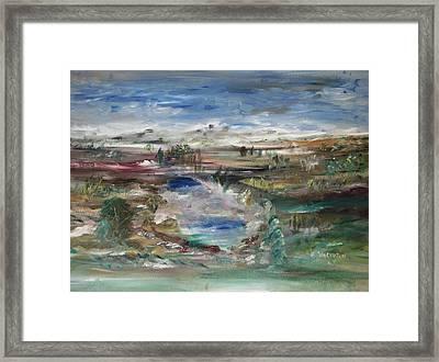 The Southfork Pond Framed Print by Edward Wolverton