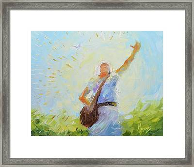 The Sower Framed Print by Mike Moyers