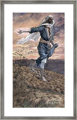 The Sower Framed Print by Tissot