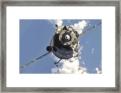 The Soyuz Tma-20 Spacecraft Framed Print by Stocktrek Images