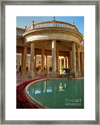 Framed Print featuring the photograph The Spa At Montecatini Terme by Nigel Fletcher-Jones