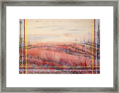 The Space Between Heaven And Earth Is Like A Bellows  Framed Print by Tom Hefko