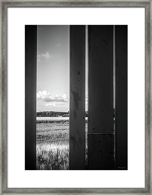 The Space In Between Framed Print by Wim Lanclus
