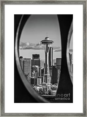 The Space Needle Framed Print by Jamie Pham