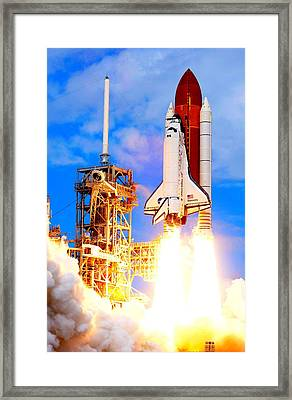 The Space Shuttle Discovery Sts-120 Framed Print by The Griffin Passant Streetworks