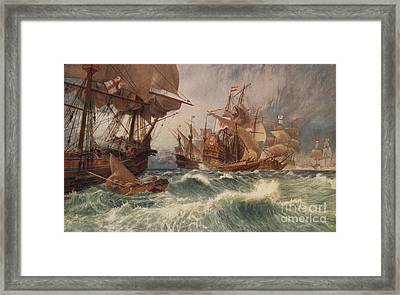 The Spanish Armada Framed Print by English School